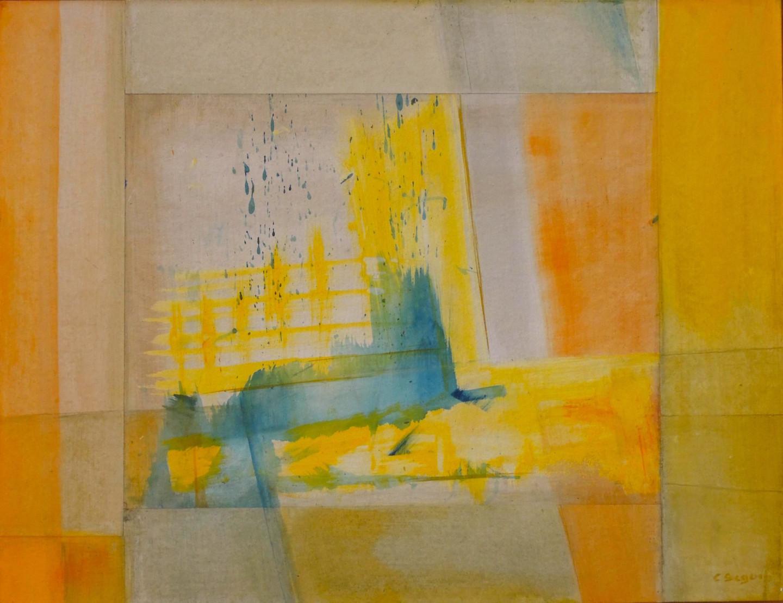 Christiane Seguin - Bavures bleues dans jaune