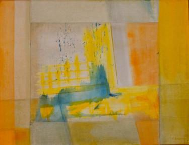 Bavures bleues dans jaune